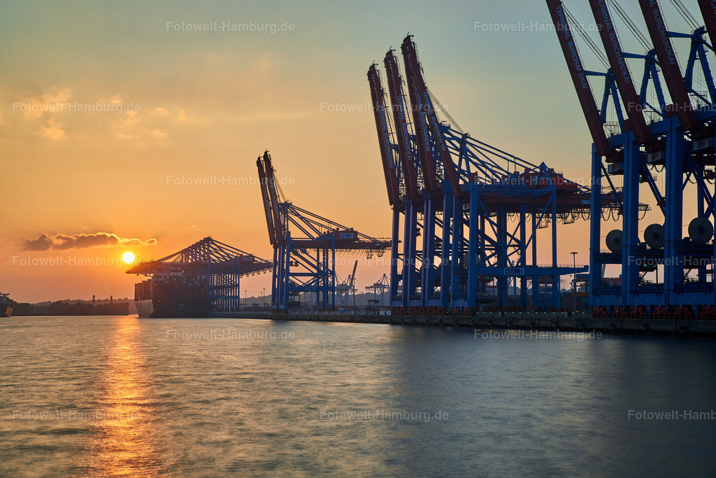 10191101 - Sonnenuntergang in Waltershof | Sonnenuntergang am Waltershofer Hafen