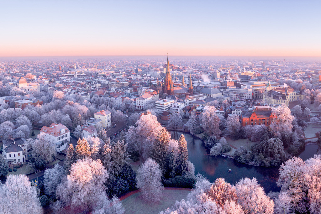 Innenstadt im Frost - Oldenburg
