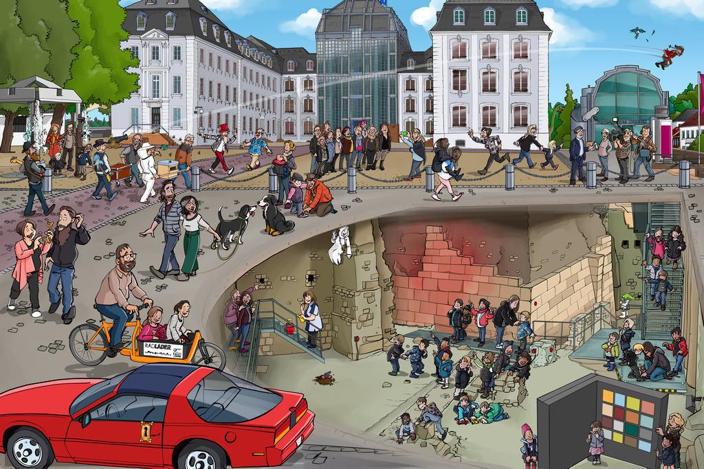 Wimmelbild-Schloss Saarbrücken-schanz-partner