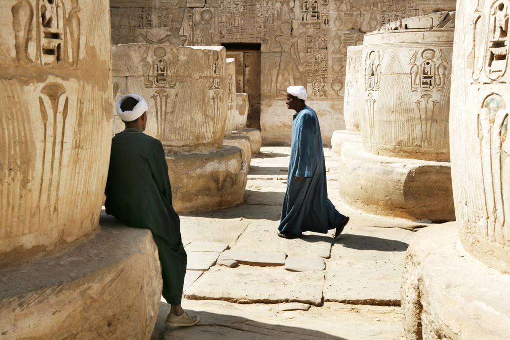 Habu Tempel | Ägypten, Luxor, Theben-West: Habu Tempel Anlage. Ramses III Totentempel.