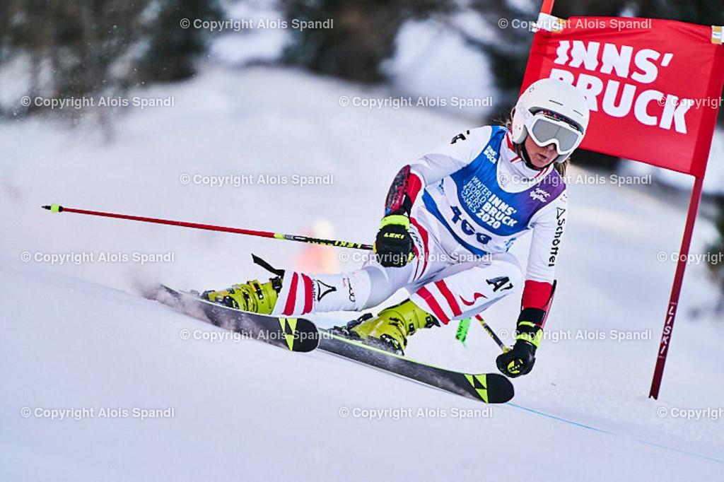 ALS6003_WWMG_GS-II_C | (C) FotoLois.com, Alois Spandl, WinterWorldMastersGames 2020 Innsbruck, Giant Slalom-II Gruppe C Damen, Patscherkofel Olympiaabfahrt, Mi 15. Jänner 2020.