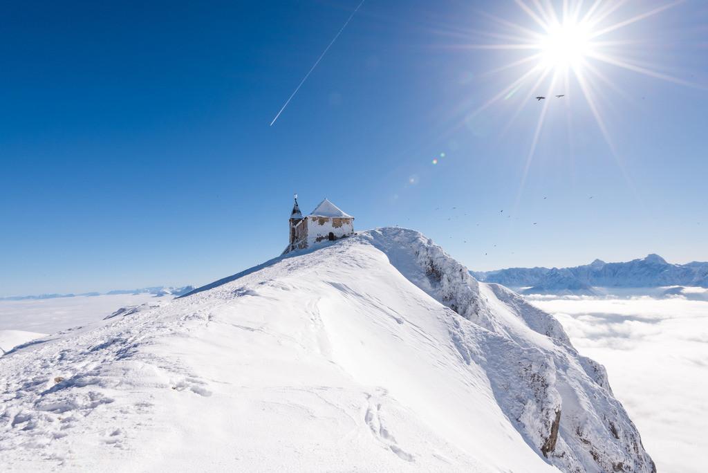 Winter am Dobratsch | Oberhalb vom Nebel am Hausberg von Villach. In der Nähe vom Gailtal und der Grenze zu Slovenien und Italien.