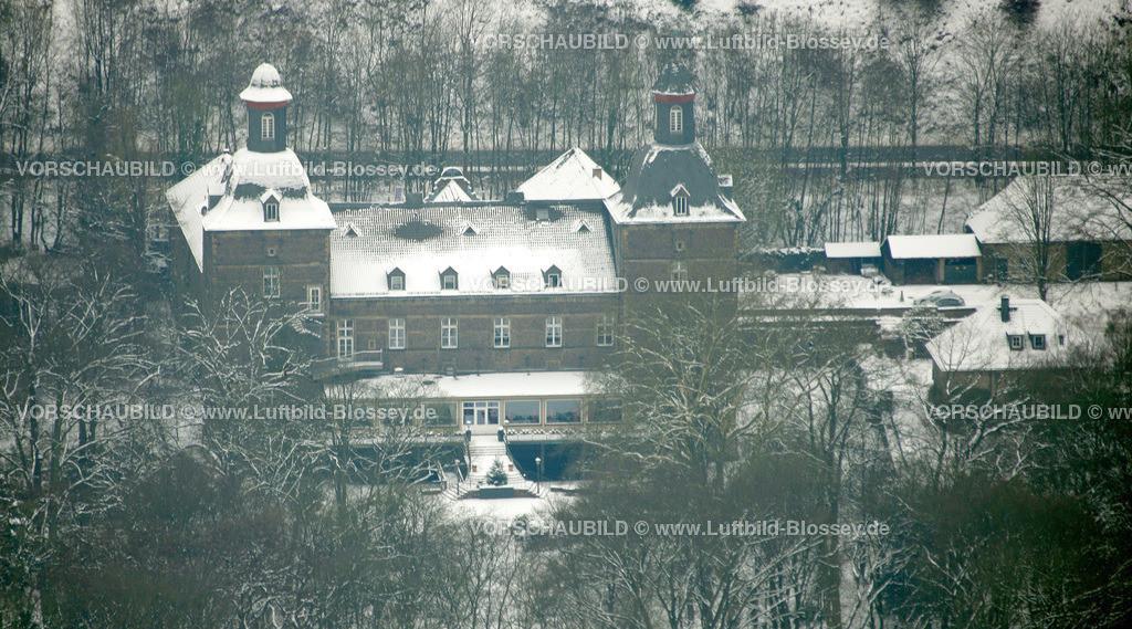 KT10011186 | Schnee,  Kettwig, Essen, Ruhrgebiet, Nordrhein-Westfalen, Deutschland, Europa, Foto: Luftbild Hans Blossey, Copyright: hans@blossey.eu, 06.01.2010, E 006° 56' 30.53