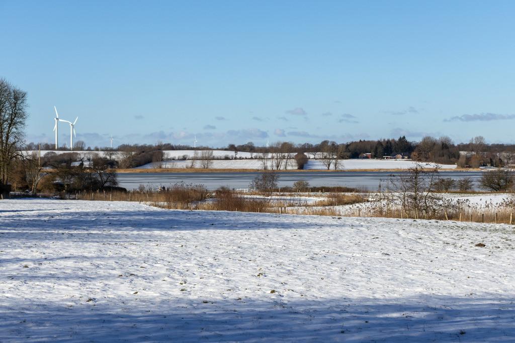 Sieseby an der Schlei   Schnee in Sieseby an der Schlei