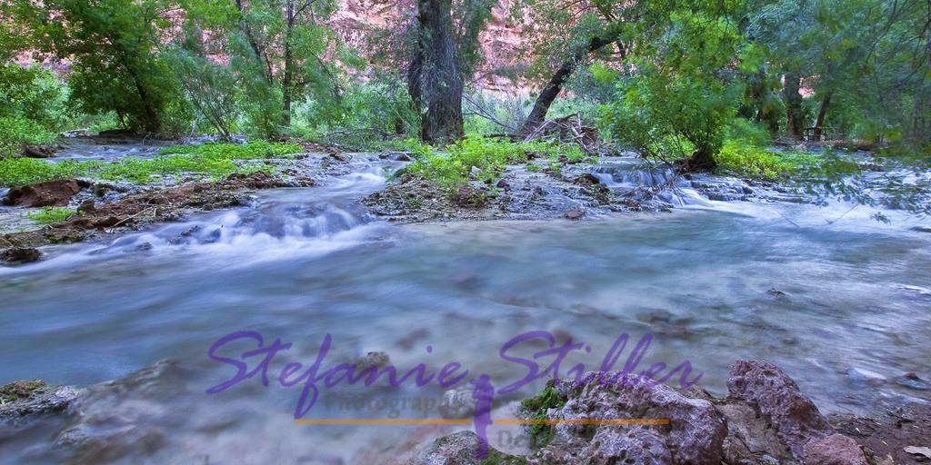 Havasu Creek | The creek meanders through Havasu Canyon /  Der Creek schlängelt sich gemütlich durch den Havasu Canyon