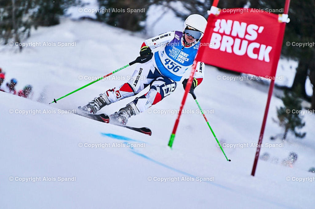 ALS5959_WWMG_GS-II_C   (C) FotoLois.com, Alois Spandl, WinterWorldMastersGames 2020 Innsbruck, Giant Slalom-II Gruppe C Damen, Patscherkofel Olympiaabfahrt, Mi 15. Jänner 2020.