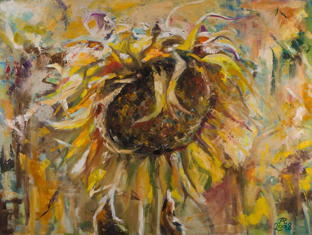 Sonnenblume im Winter | Originalformat: 60x80cm  -  Produktionsjahr: 2008