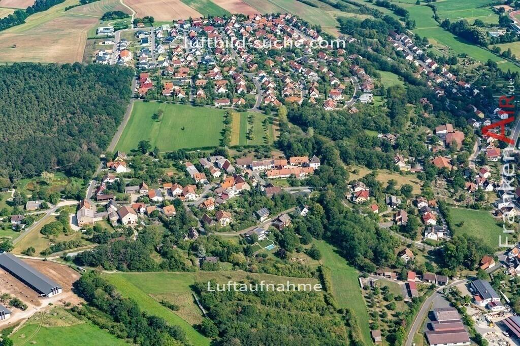 fuerstenforst-burghaslach-19-02 | aktuelles Luftbild von Fuerstenforst  Burghaslach - Luftaufnahme wurde 2019 von https://frankenair.de mittels Flugzeug (keine Drohne) erstellt.