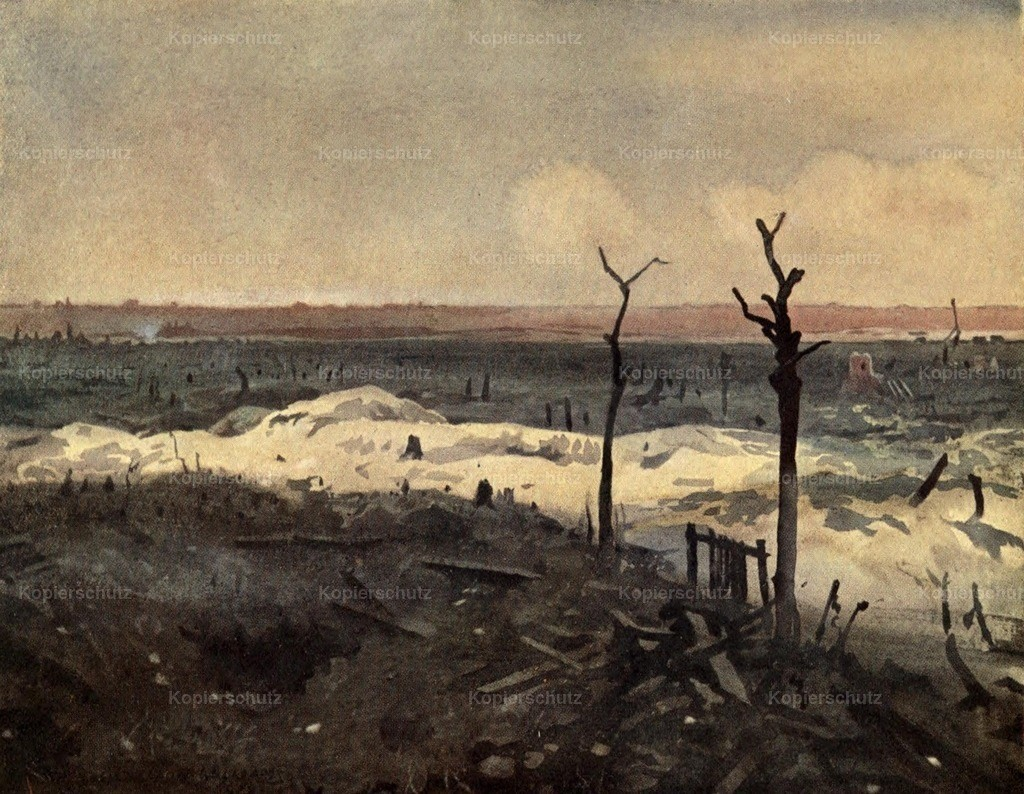 Sheldon-Williams_ Inglis (1870-1940) - Canadian Front 1920 - Aconite trench_ Lens