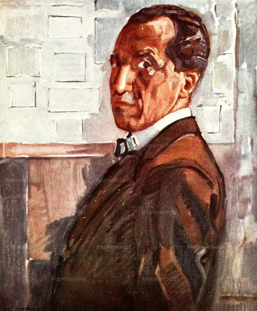 Mondrian_ Piet (1872-1944) - Self Portrait 1918