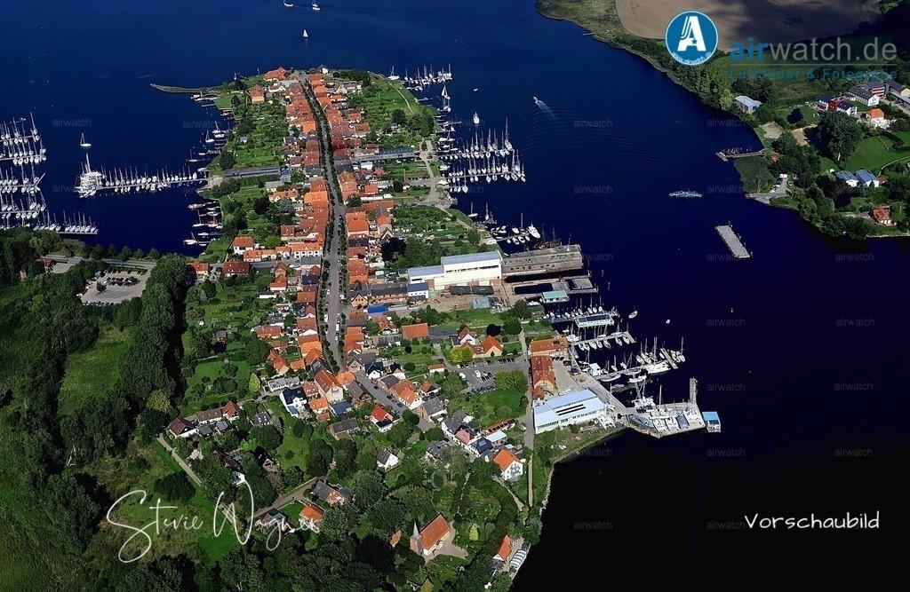Luftbild Arnis, Schlei, Ostseefjord, Sportboothafen, Bootswerft | Luftbild Arnis, Schlei, Ostseefjord, Sportboothafen, Bootswerft • max. 6240 x 4160 pix