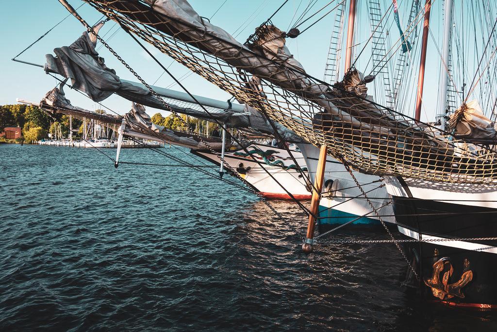 Segelschiffe auf der Hanse Sail in Rostock   Segelschiffe auf der Hanse Sail in Rostock.