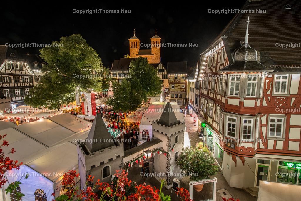 Marktplatz | Bensheim, Winzerfest, Bergstrasse bei Nacht, ,, Bild: Thomas Neu