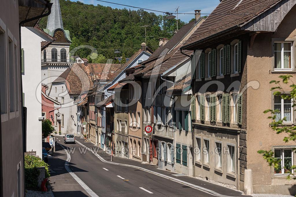 Zentrum, Waldenburg (BL) | Häuserzeile im Zentrum von Waldenburg im Kanton Baselland.