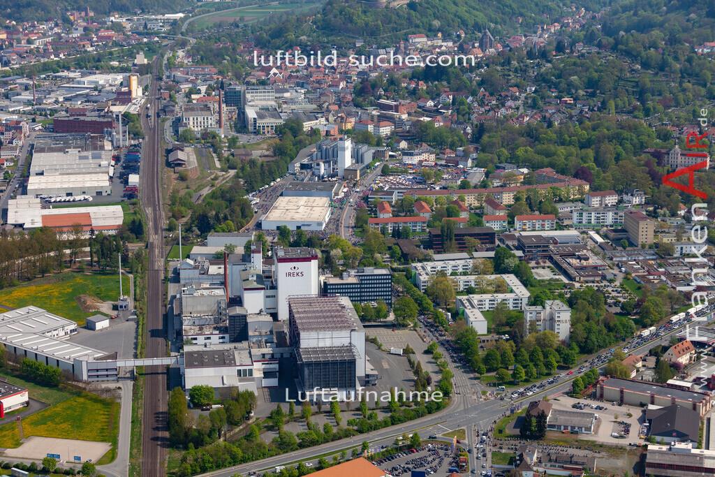 kulmbach-18-58   aktuelles Luftbild von  Kulmbach - Luftaufnahme wurde 2018 von https://frankenair.de mittels Flugzeug (keine Drohne) erstellt.