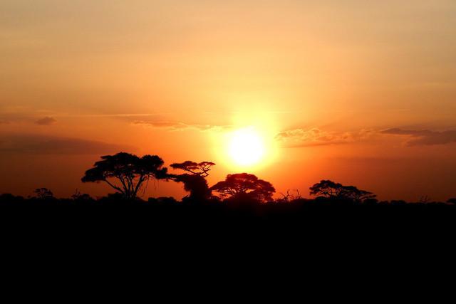 African Feeling   Sonnenuntergang in der Savanne Kenias