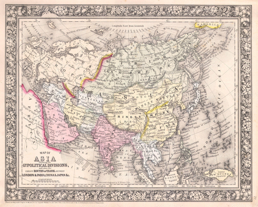 1864_Mitchell_Map_of_Asia
