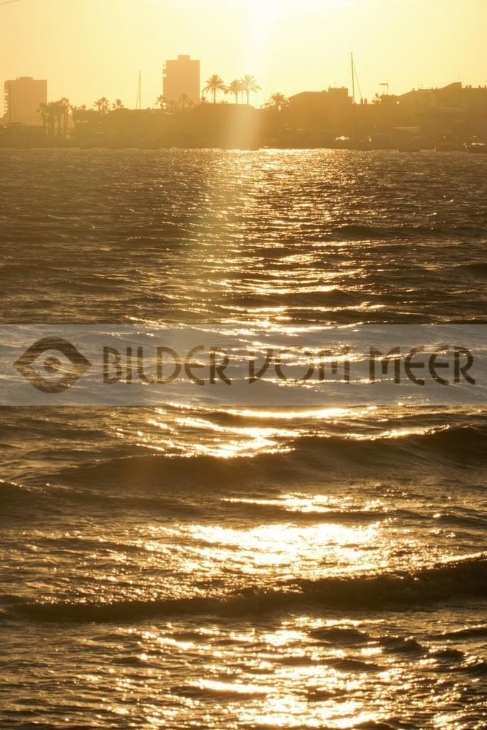 Bilder Sonnenuntergang am Meer   Sonnenunntergang Bilder san Pedro del Pinatar, Spanien