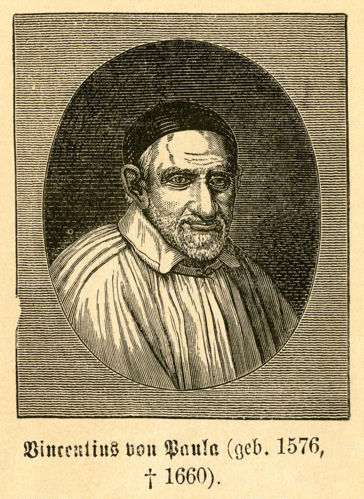Vinzenz von Paul / Vincent de Paul   Europa, Frankreich, Paris, Vinzenz von Paul, französischer Priester , Motiv aus :