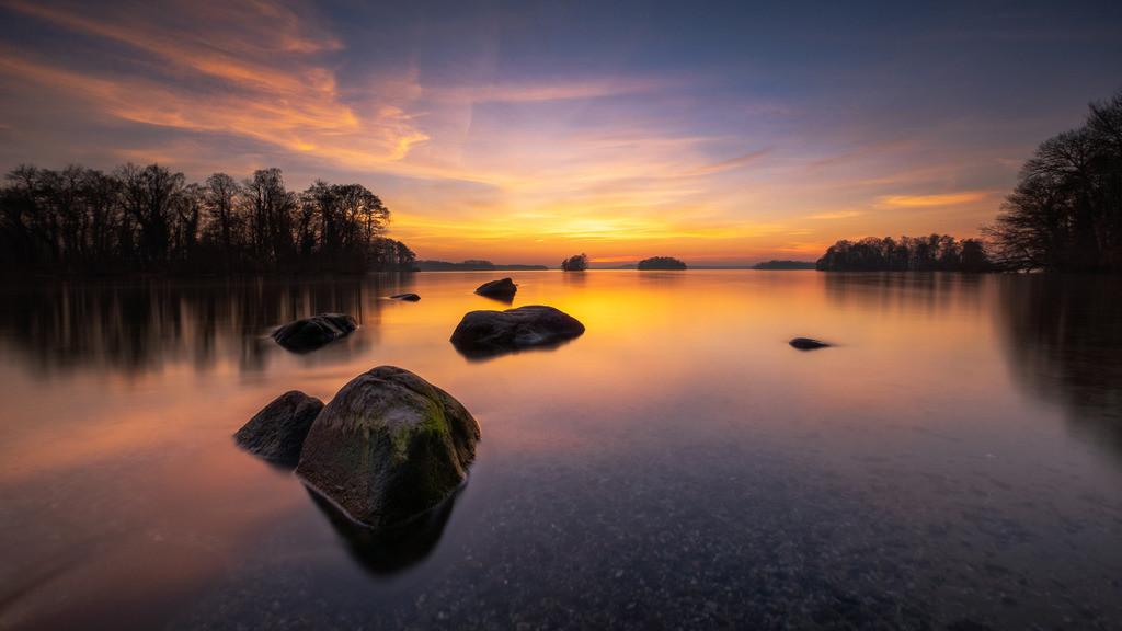 Sunset Island III | Sonnenuntergang auf der Prinzeninsel im Plöner See.