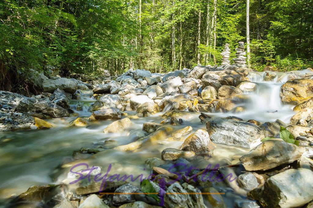 Impressions of a stream / Impressionen eines Baches | Little waterfalls of the Bavarian stream Markgraben / Kleine Wasserfälle des Baches Markgraben