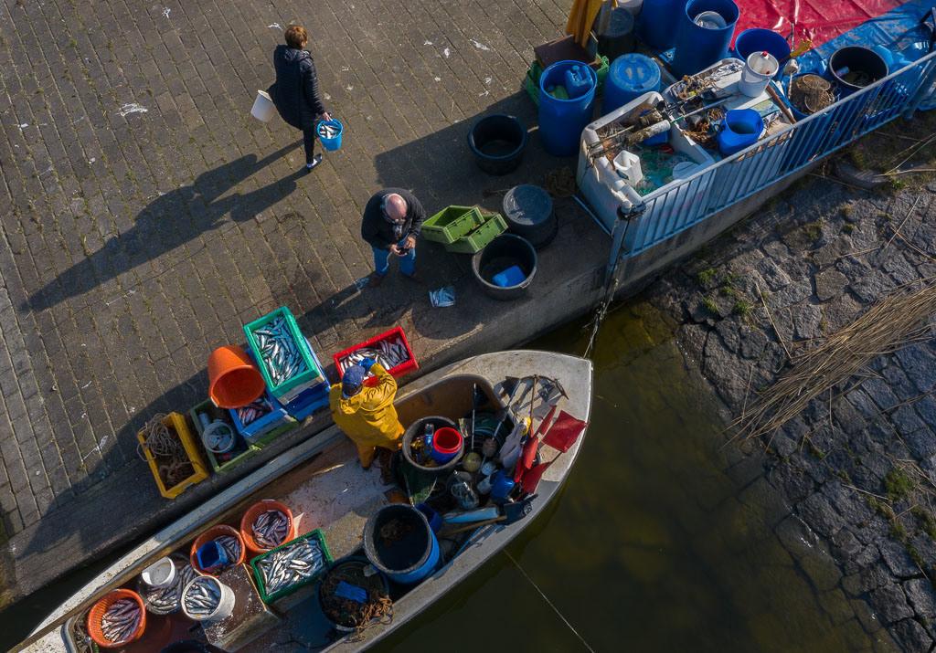 Matthias Nanz – ein Fischer an der Schlei © Holger Rüdel | Matthias Nanz aus Schleswig ist einer der letzten Berufsfischer an der Schlei. Mit seinem Boot fährt er vom Liegeplatz in Missunde zu den Fanggründen in der Schlei. Im zeitigen Frühjahr werden vor allem Heringe gefangen. Ein Teil des Fangs geht direkt nach der Landung an Privatkunden.