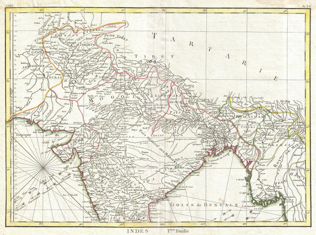 1770_Bonne_Map_of_Northern_India__Burma_and_Pakistan
