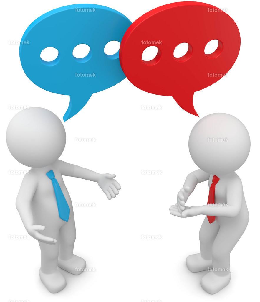 3d Männchen Gespräch
