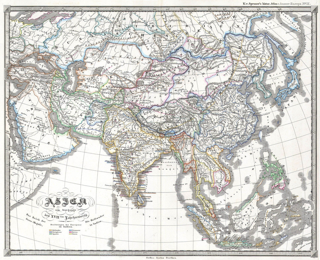 1855_Perthes_Map_of_Asia_at_the_end_of_the_17th_Century