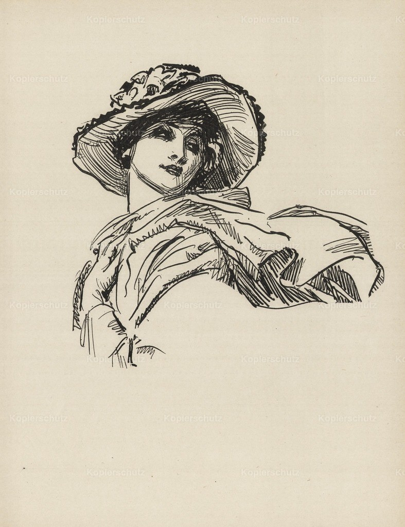 Gibson_ Charles Dana (1867-1944) - Gibson New Cartoons 1916 - Girl with scarf