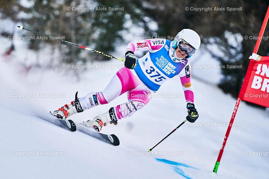 ALS5546_WWMG_GS-II_C | (C) FotoLois.com, Alois Spandl, WinterWorldMastersGames 2020 Innsbruck, Giant Slalom-II Gruppe C Damen, Patscherkofel Olympiaabfahrt, Mi 15. Jänner 2020.