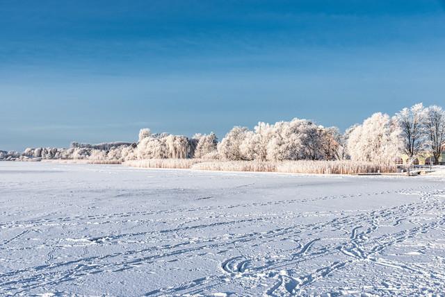 Prenzlau winterlich   Ansicht aus Prenzlau