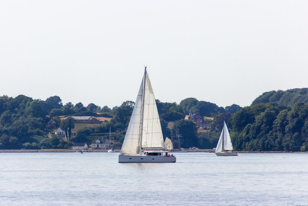 Segelboote vor Glücksburg | Segelboote auf der Flensburger Förde vor Glücksburg
