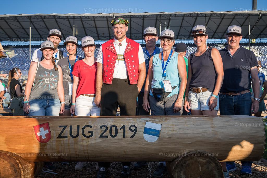 Schwingen -  Eidg. Schwing- und Älplerfest, ESAF Zug 2019 2019 | Zug, 25.8.19, Schwingen - Eidg. Schwing- und Älplerfest, ESAF Zug 2019. (Lorenz Reifler)