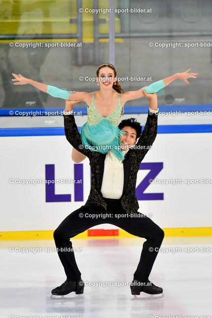AUT, Eiskunstlaufen, Junior Grand Prix of Figure Skating 2021/2022   07.10.2021, Eishalle Linz, AUT, Eiskunstlaufen, Junior Grand Prix of Figure Skating 2021/2022, im Bild Emma Goodstadt und Michael Barsoum (CAN) - Junior Ice Dance Rhythm Dance