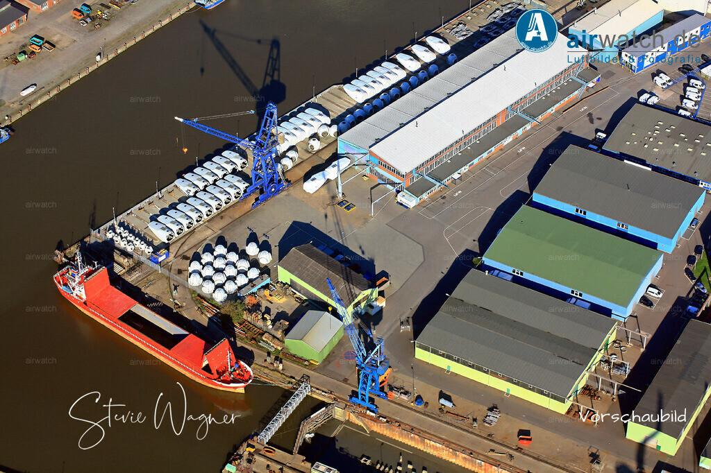 Luftbild Aussenhafen, Windkraft, Repower, ATR-Schiffe, Husum-Dock+Reparatur | Luftbild Aussenhafen, Windkraft, Repower, ATR-Schiffe, Husum-Dock+Reparatur • max. 4272 x 2848 pix.