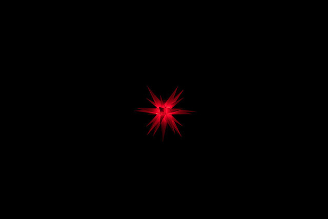 Red star in the dark | Red star in the dark