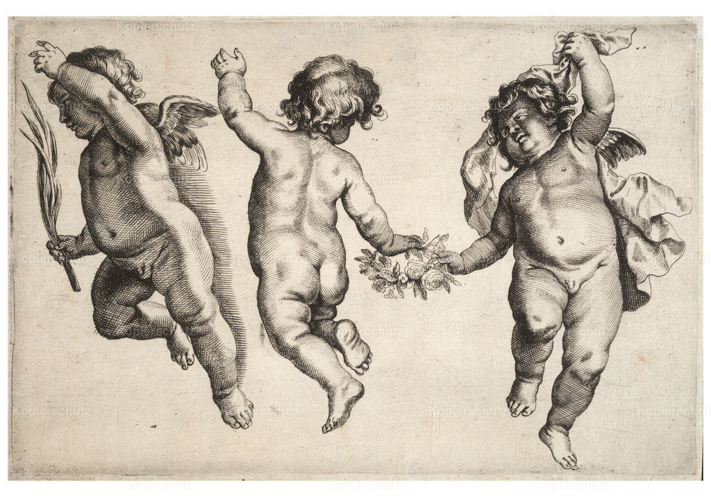 Wenceslas_Hollar_-_Two_cherubs_dancing_with_small_boy