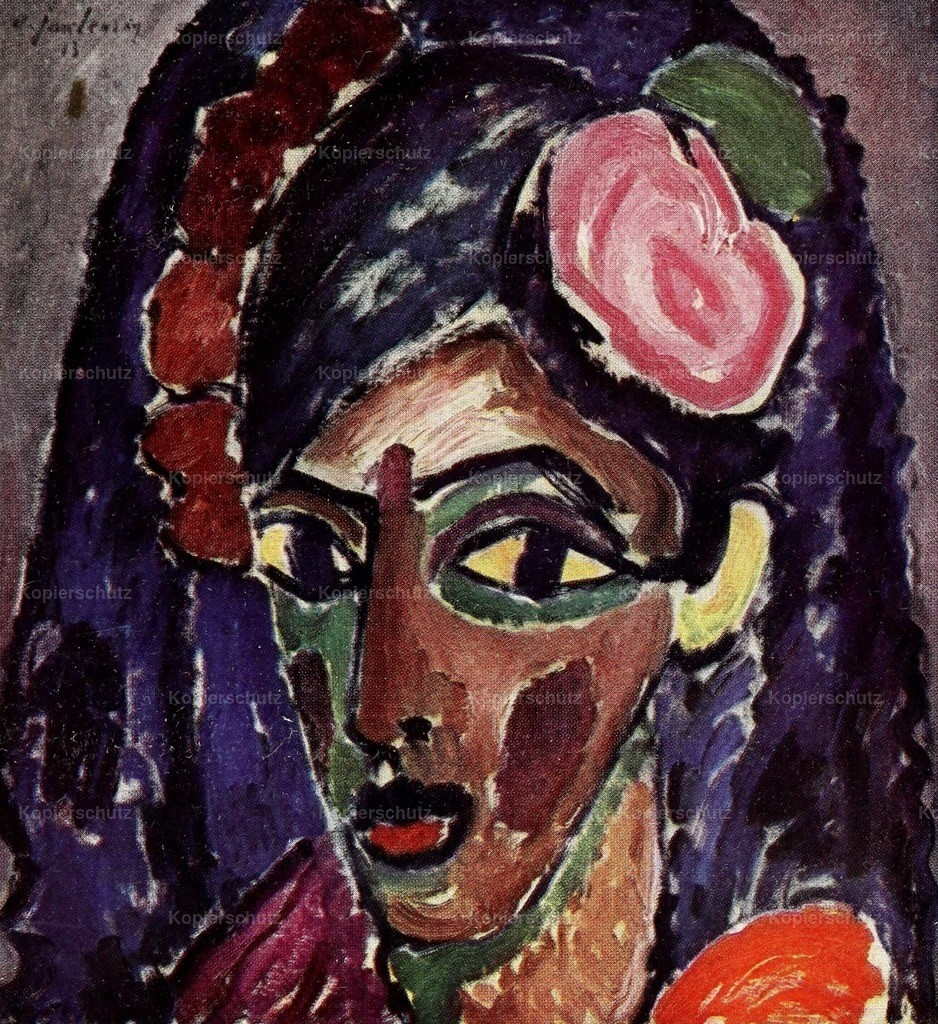 Jawlensky_ Alexey von (1864-1941) - Head of a Girl