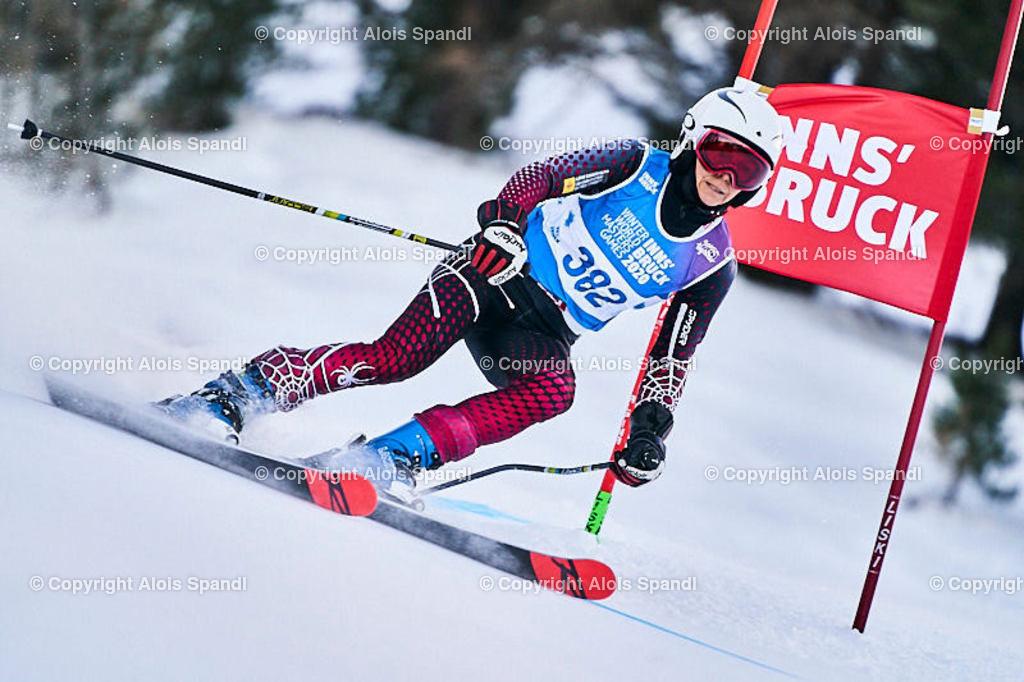 ALS5600_WWMG_GS-II_C   (C) FotoLois.com, Alois Spandl, WinterWorldMastersGames 2020 Innsbruck, Giant Slalom-II Gruppe C Damen, Patscherkofel Olympiaabfahrt, Mi 15. Jänner 2020.