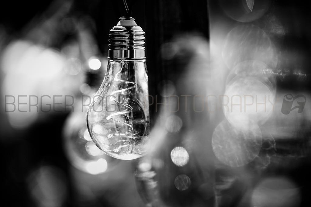 Glühbirnen Lämpchen 3 / Schwarz Weiss | Lichterkette mit Glühbirnen