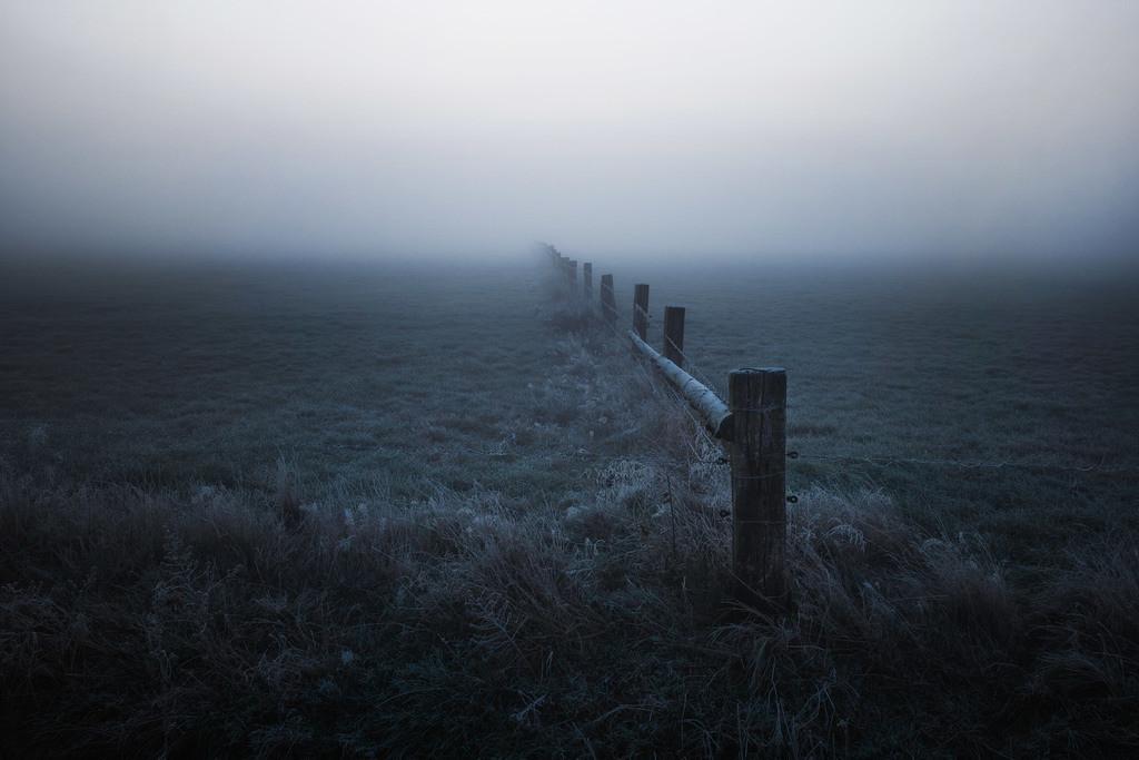 Ein kalter Morgen | Winterliche Stimmung in den Hammewiesen.
