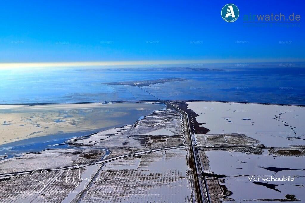 Winter Luftbilder, Nordsee, Beltringharder Koog, Luettmoorsiel   Winter Luftbilder, Nordsee, Beltringharder Koog, Luettmoorsiel