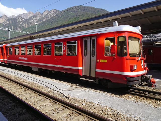 RhB ABDt 1714   Die Stammpendel steht abfahrbereit am Bahnhof.