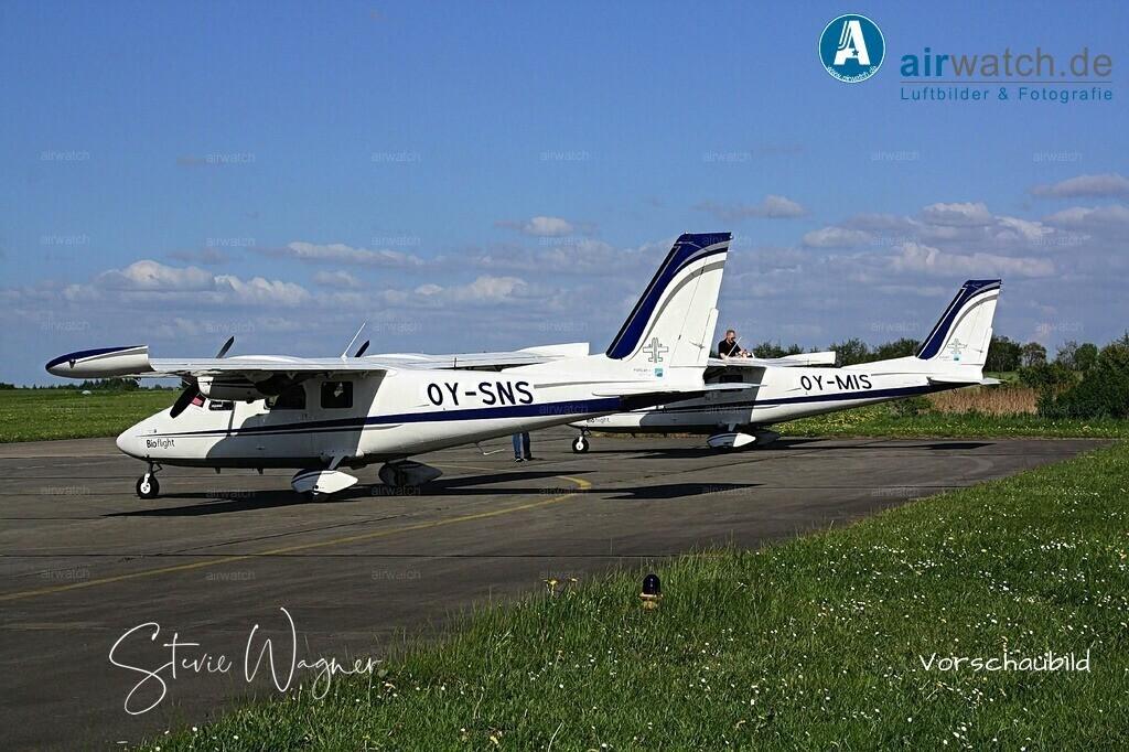 Flughafen Husum, Bioflight, Vulcanair P68   Flughafen Husum, Bioflight, Vulcanair P68, Flughafen Husum, JABO G 41, LeKG 41, FlaRakG • max. 4272 x 2848 pix