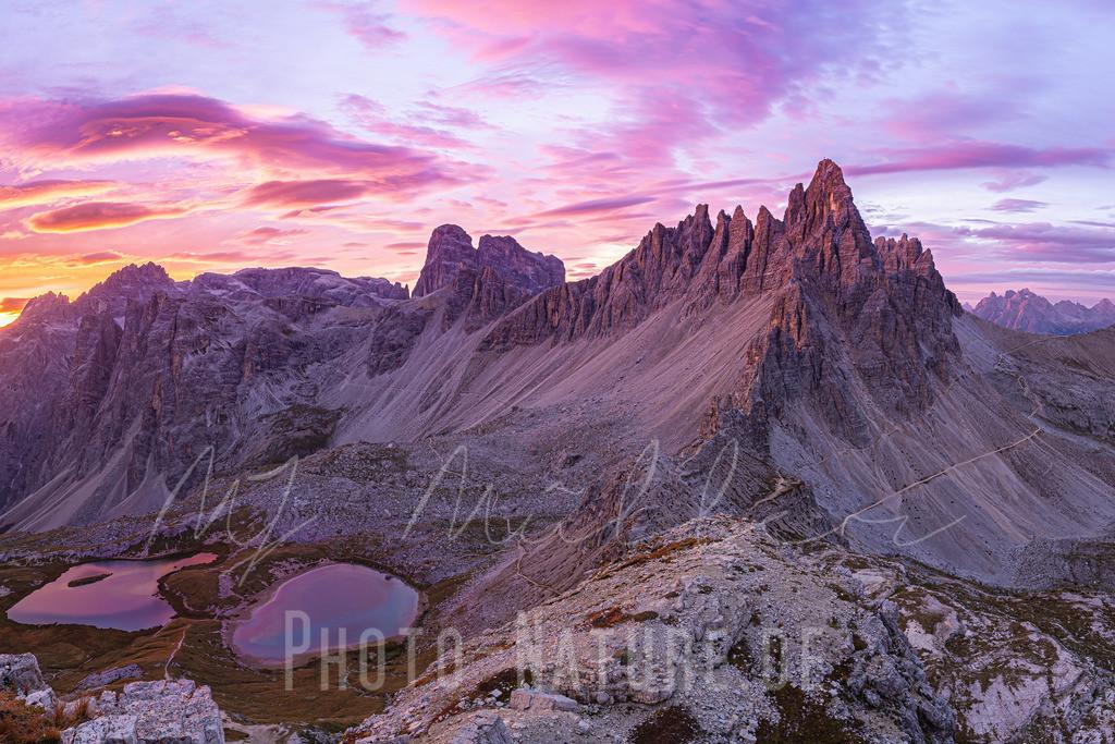 Farbvielfalt am Morgen | Dieser wunderschöne Sonnenaufgang hüllte die Sextener Bergwelt in bestes Licht.