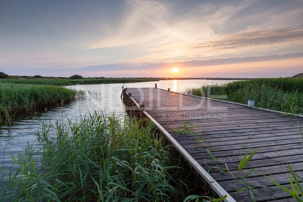 Abend am Ringköbing Fjord   Sonnenuntergang über dem Norden Dänemarks