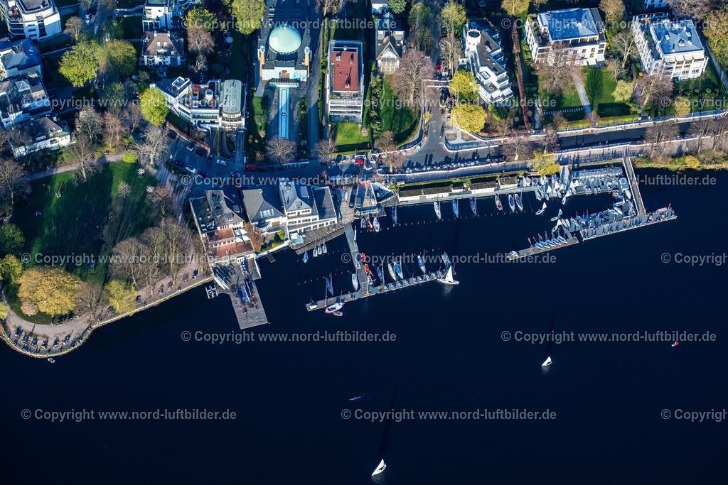 Hamburg_Uhlenhorst_Bootsanleger_ELS_4908200421 | HAMBURG 20.04.2021 Sportboot- Anlegestellen und Bootsliegeplätzen des