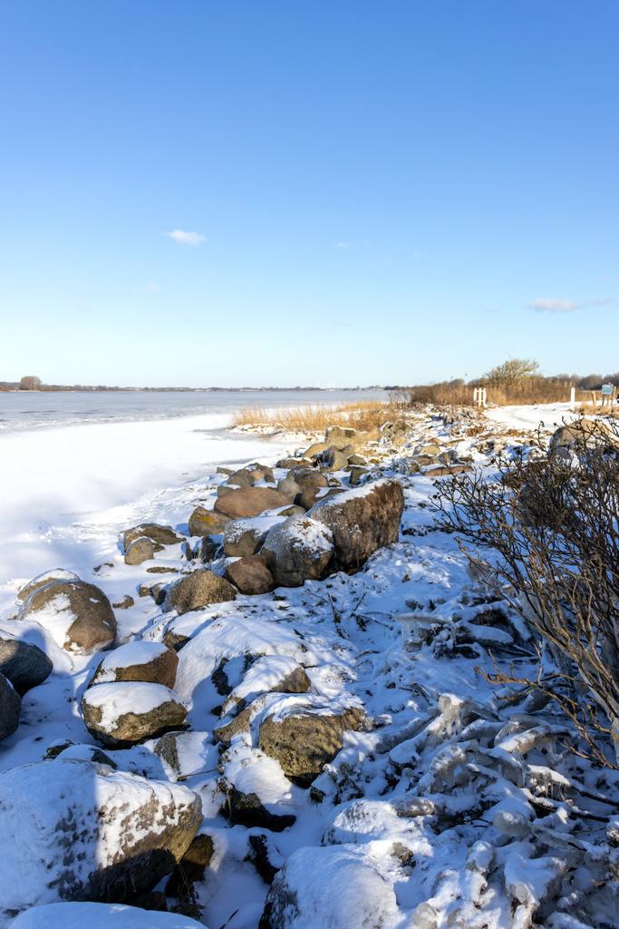 Sieseby an der Schlei   Schnee und Eis in Sieseby an der Schlei