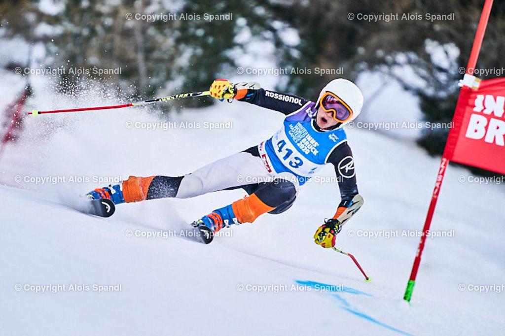 ALS5759_WWMG_GS-II_C   (C) FotoLois.com, Alois Spandl, WinterWorldMastersGames 2020 Innsbruck, Giant Slalom-II Gruppe C Damen, Patscherkofel Olympiaabfahrt, Mi 15. Jänner 2020.
